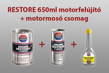 RESTORE 650ml motorfelújító csomag + RESTORE motormosó