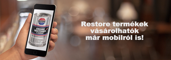 Restore motorfelújító mobilról is kapható